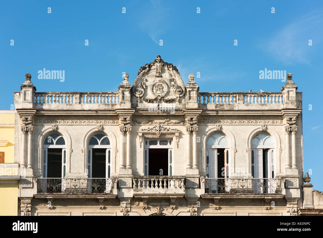 Havanna, - January 08, Travel, Havanna, Cuba, Habana City . In the Picture: View to the Balkon Aes Hauses . (Photo by Ulrich Roth) - Stock Image