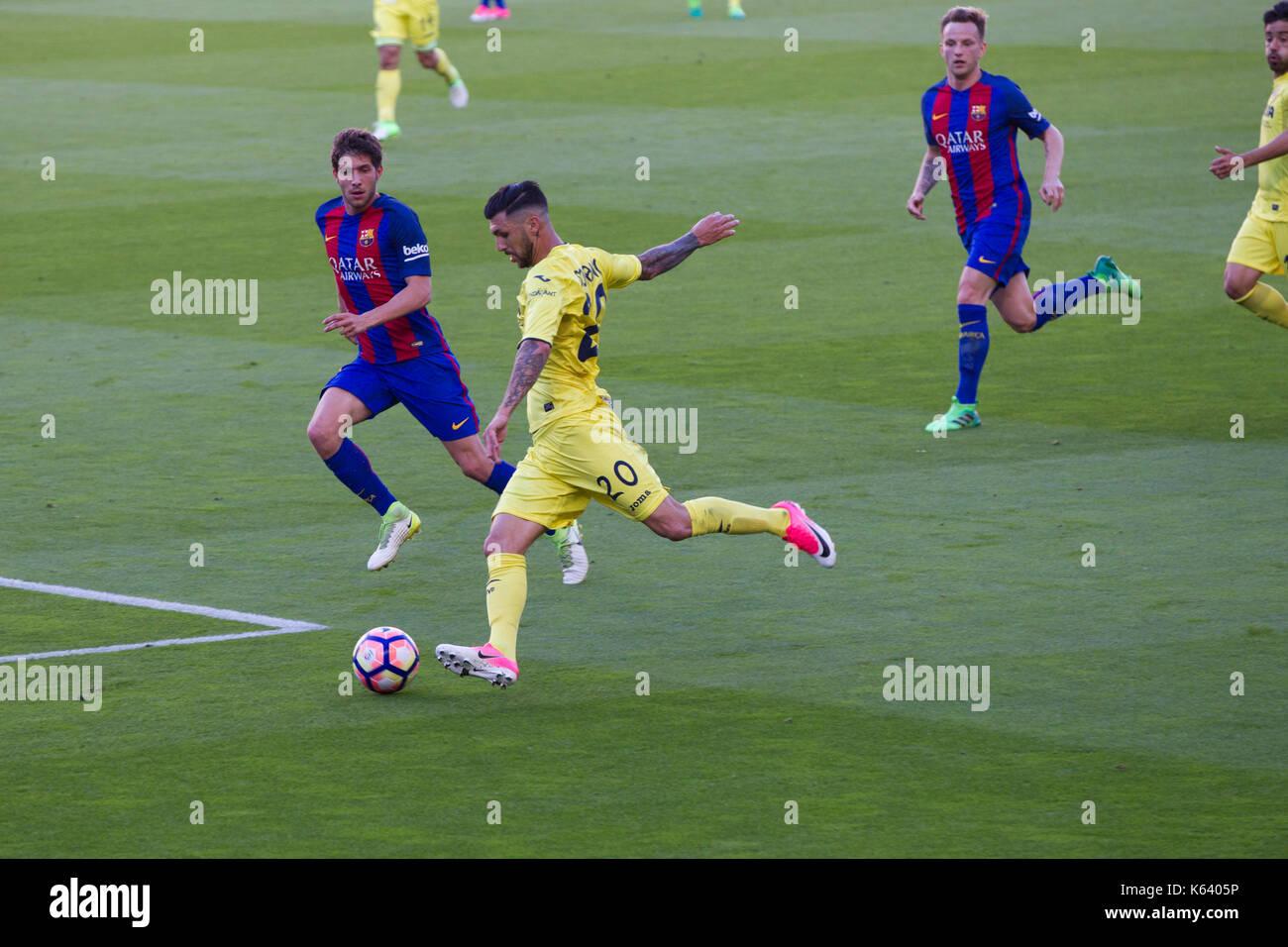 Sergi Roberto of FC Barcelona - 6/5/17 Barcelona v Villarreal football league match at the Camp Nou stadium, Barcelona. - Stock Image
