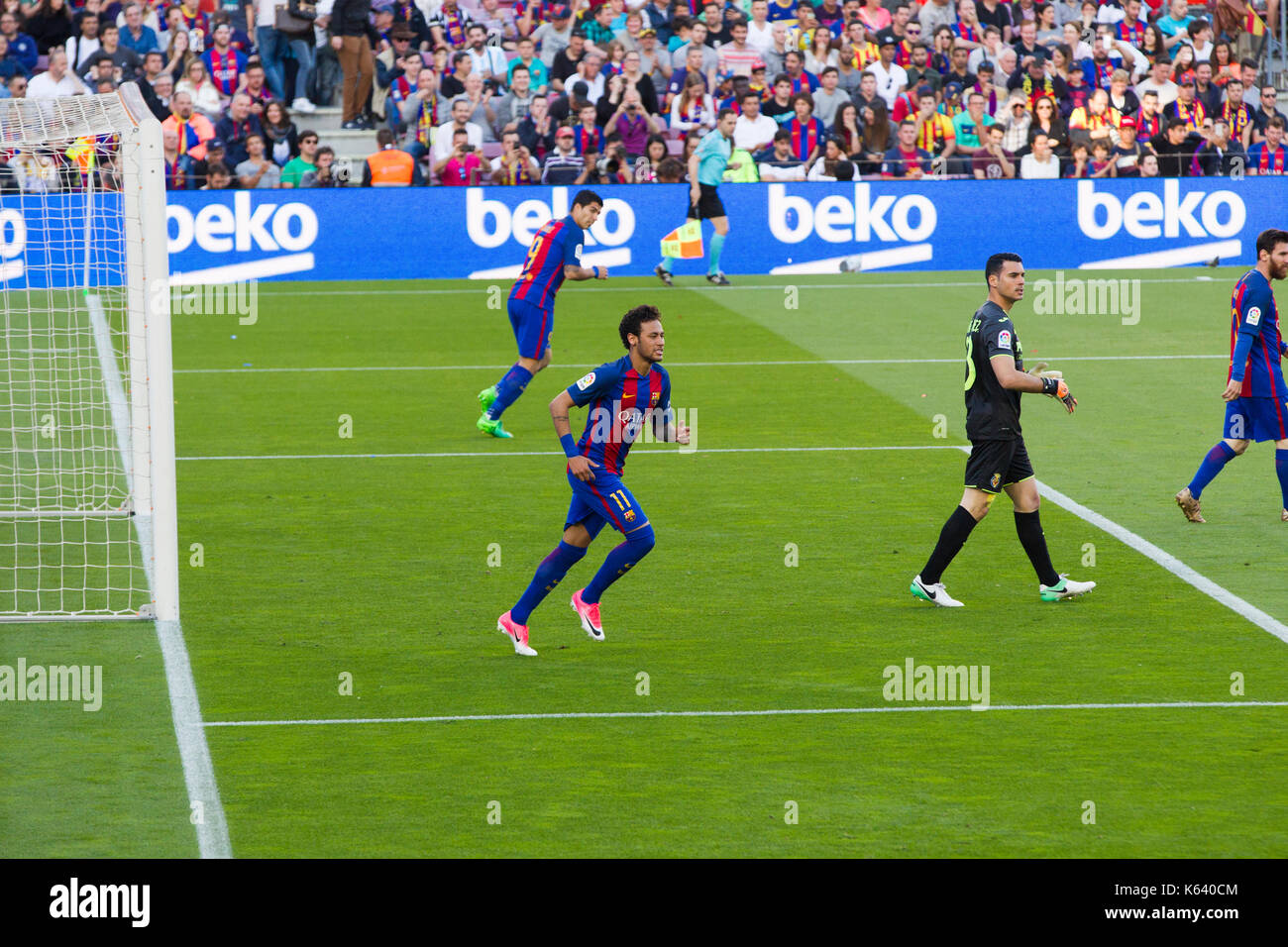 Neymar Jr - 6/5/17 Barcelona v Villarreal football league match at the Camp Nou stadium, Barcelona. - Stock Image