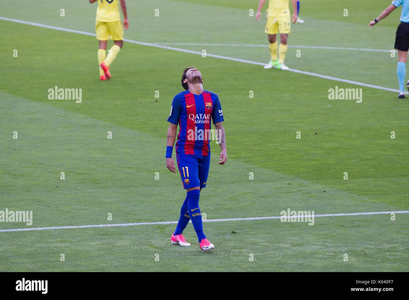Neymar Jr- 6/5/17 Barcelona v Villarreal football league match at the Camp Nou stadium, Barcelona. - Stock Image