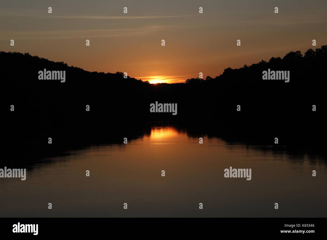 Symmetric sunset - Stock Image
