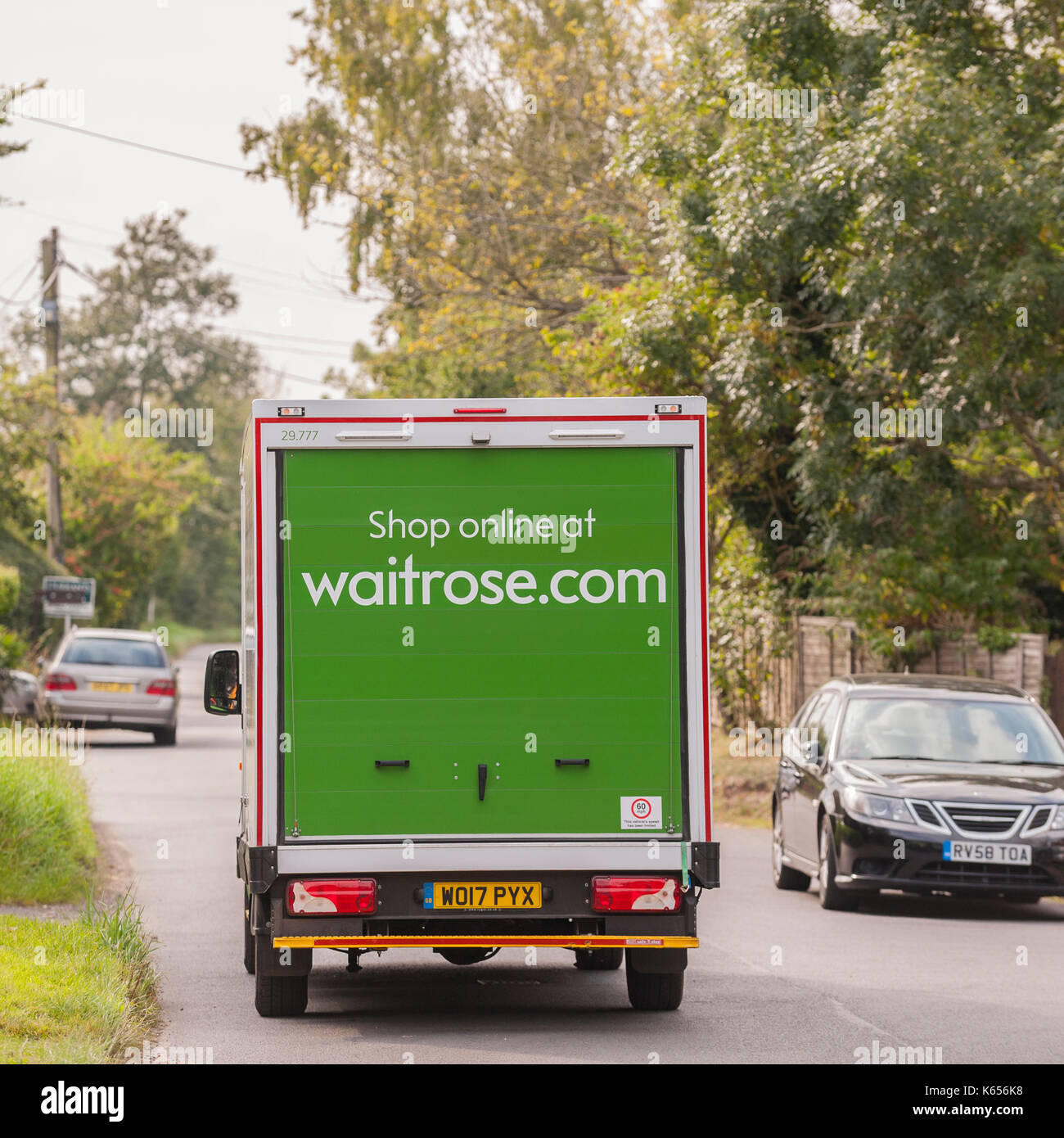 Waitrose delivery van in Walberswick , Suffolk , England , Britain , Uk - Stock Image
