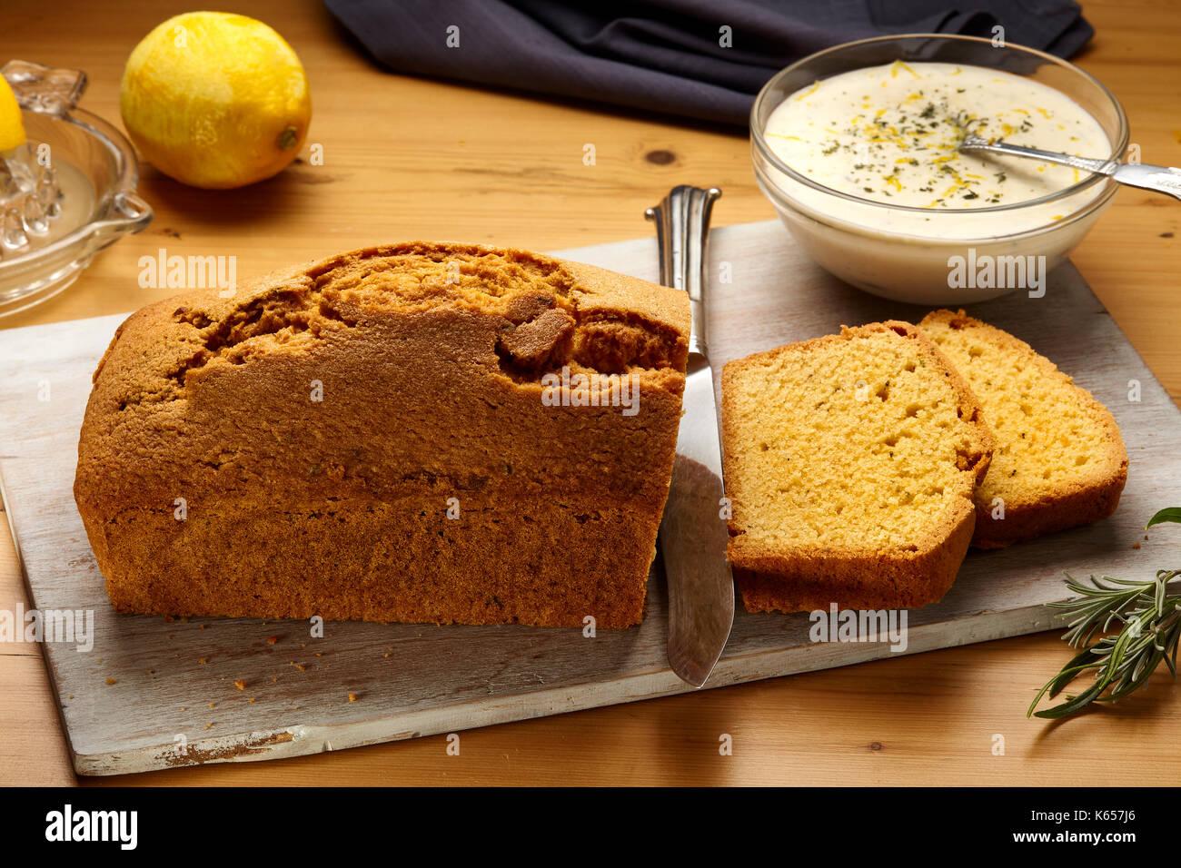 Lemon lavender loaf - Stock Image