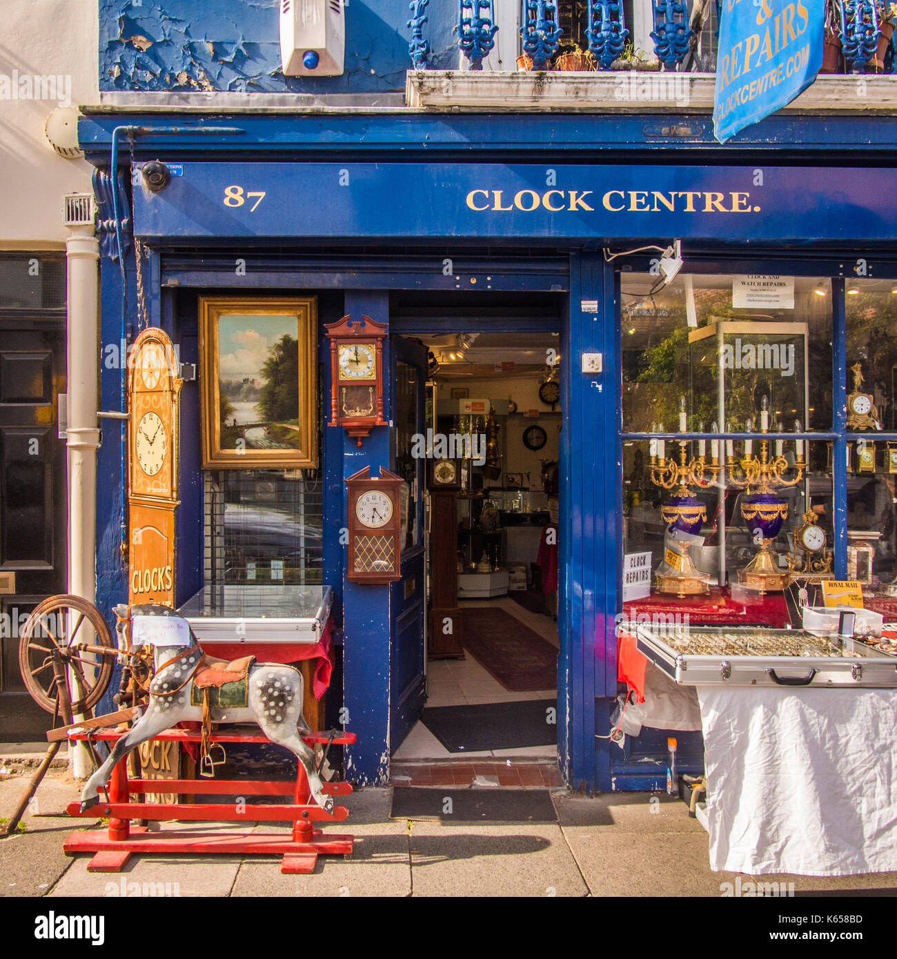 Curiosities/souvenirs for sale at Portabello Road, Notting Hill, London. - Stock Image