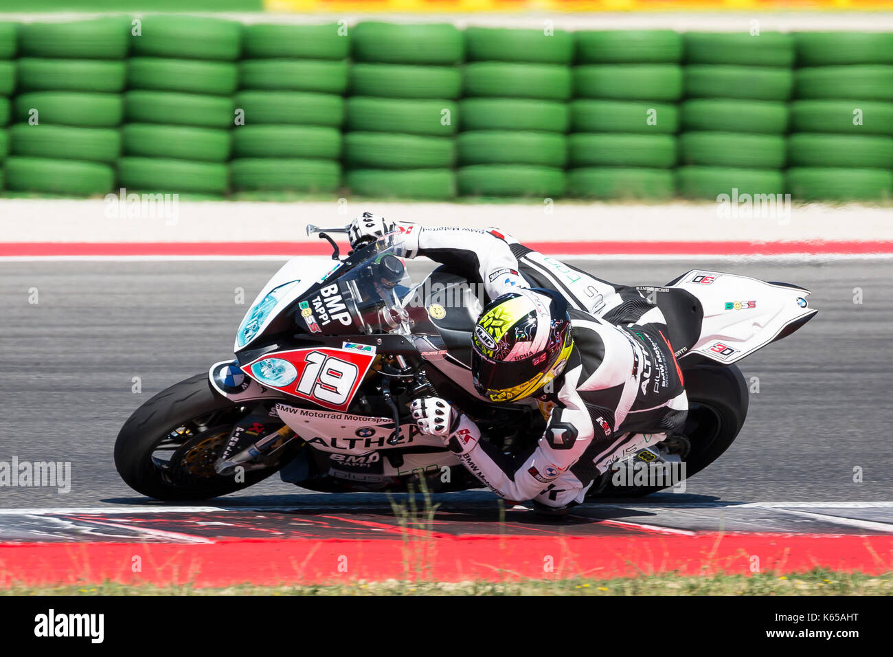 Misano Adriatico, Italy - July 29, 2017:Bmw of MF84 Pluston by Althea Racing, driven by PUFFE Julian in action during Stock Photo