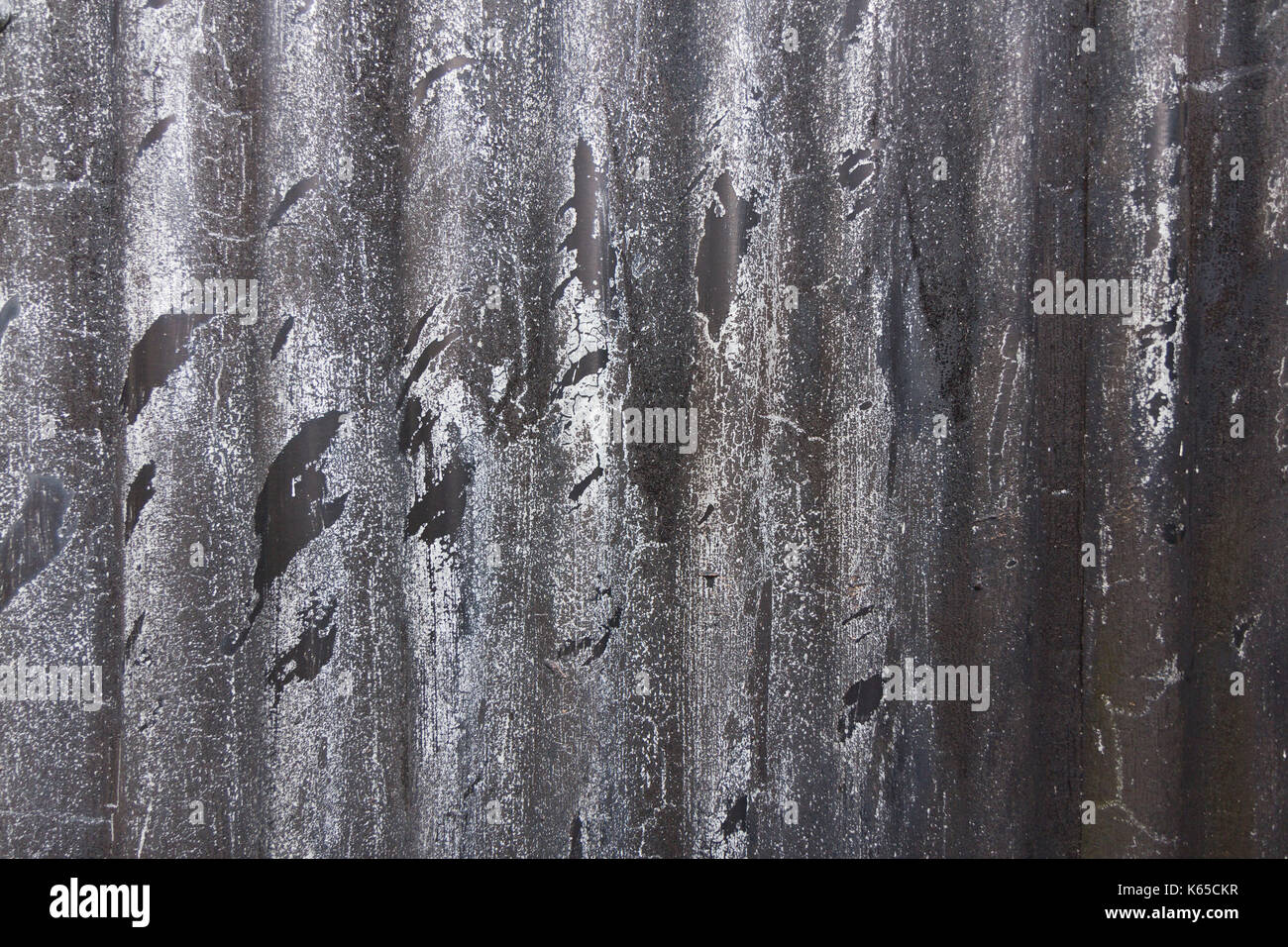 Farm building corrugated sheet metal panel texture Stock Photo