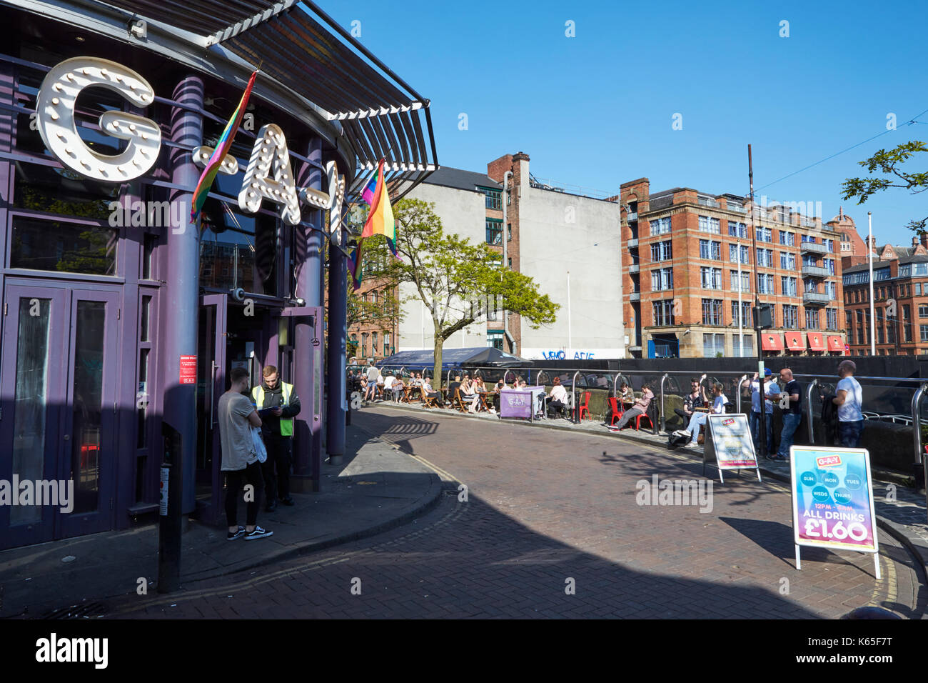 Manchester, UK - 10 May 2017: Exterior Of Buildings In Manchester's Gay Village - Stock Image