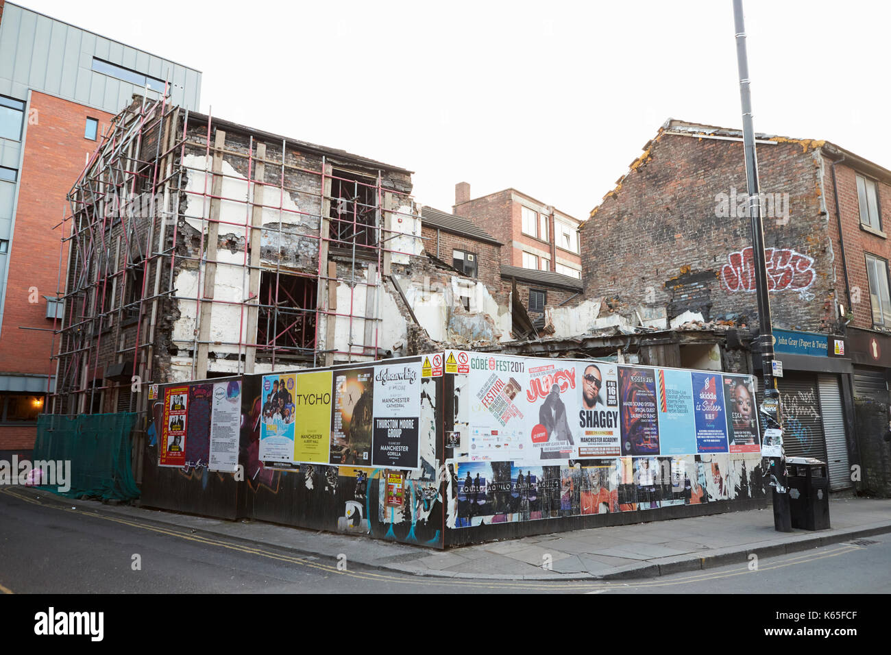 Manchester, UK - 10 May 2017: Building Being Demolished In Manchester City Centre - Stock Image