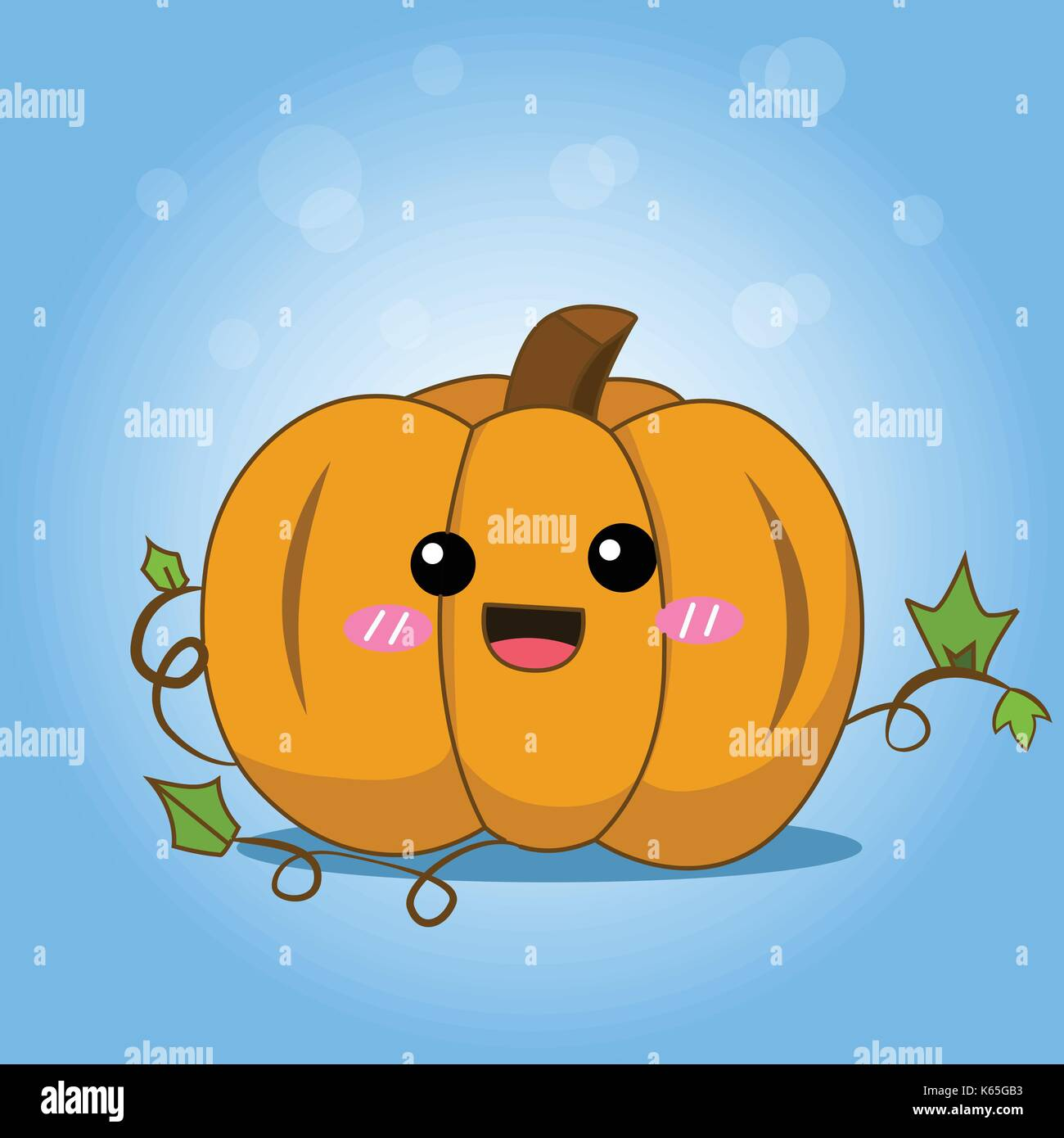 Cute Halloween Pumpkin With Splash Season Greeting Poster Stock Vector Image Art Alamy