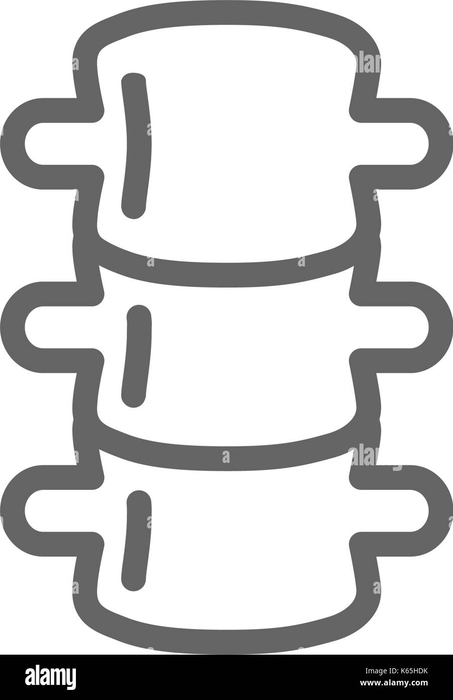 Simple backbone line icon. Symbol and sign vector illustration design. Editable Stroke. Isolated on white background - Stock Image