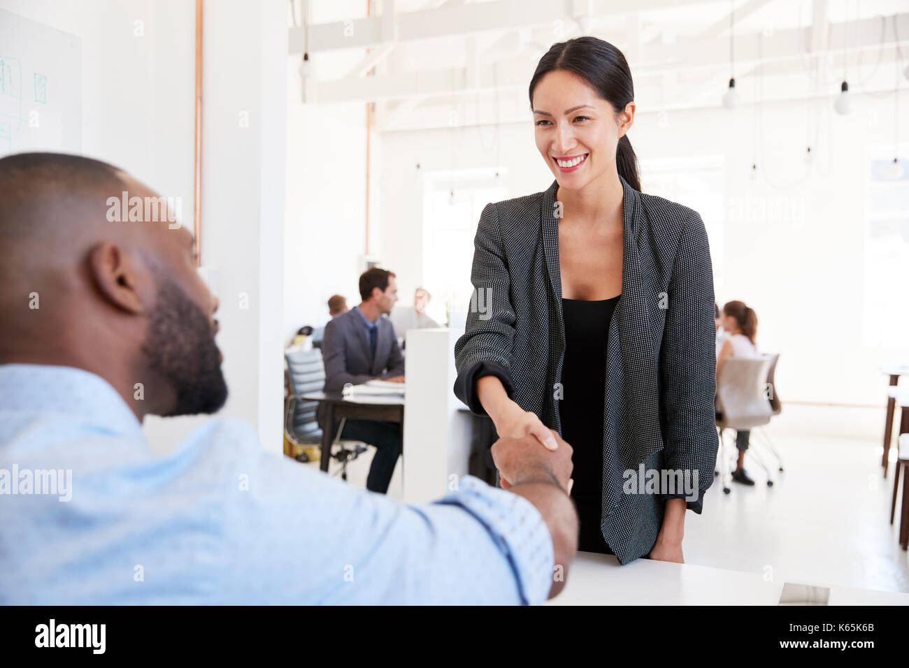 Business Chinese American Greeting Stock Photos Business Chinese