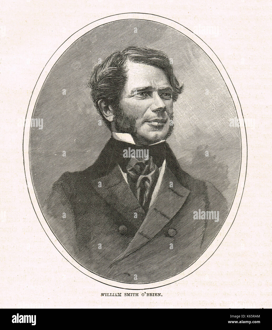William Smith O'Brien, Irish nationalist Member of Parliament, and leader of the Young Ireland movement - Stock Image