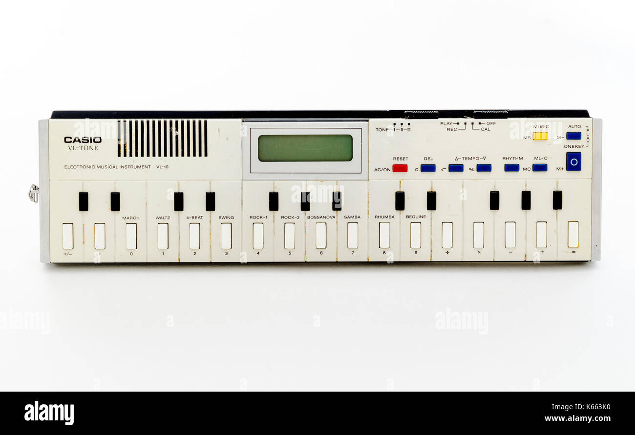 Casio VL-10, The Smallest Synthesizer and Calculator combined, First released in June 1979. - Stock Image