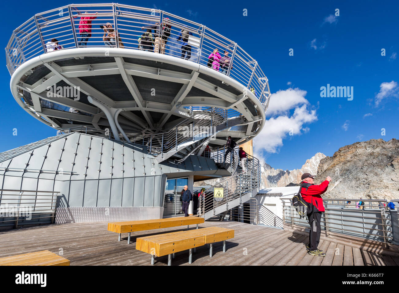 Punta Helbronner - Skyway Monte Bianco, Aosta Valley, Italy - Stock Image