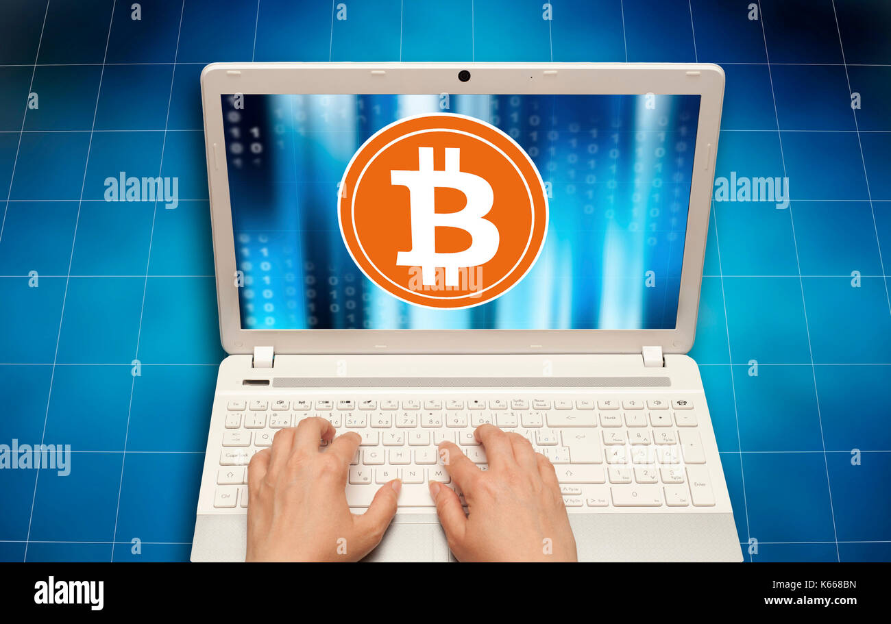 mining bitcoin concept - Stock Image