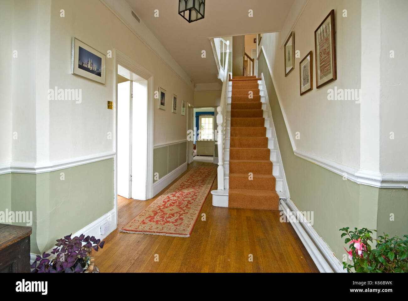 Lovely Entrance Hall And Staircase In Period Home   Stock Image