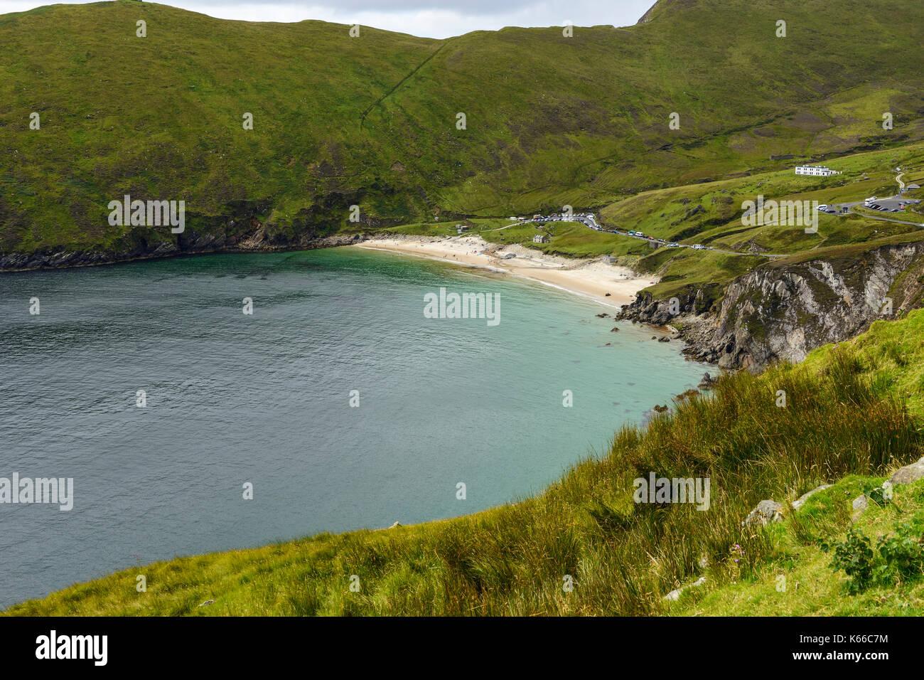 Keem Beach on Achill Island, County Mayo, Republic of Ireland Stock Photo