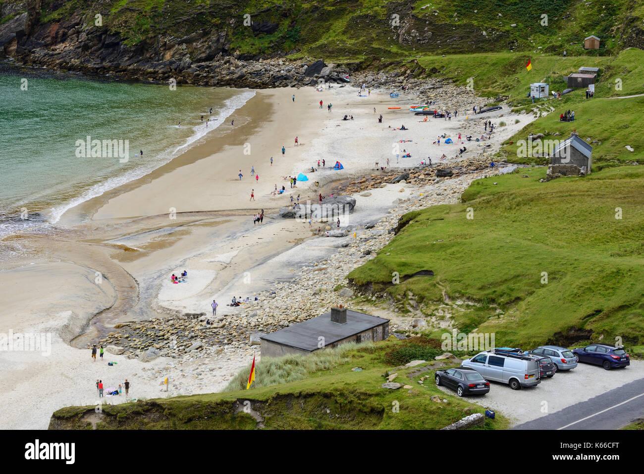 Keem Beach on Achill Island, County Mayo, Republic of Ireland - Stock Image
