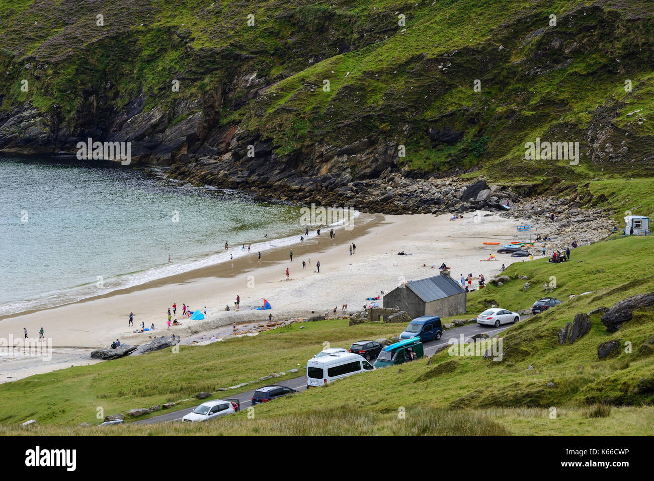 Keem Beach on Achill Island, County Mayo, Republic of Ireland Stock Photo