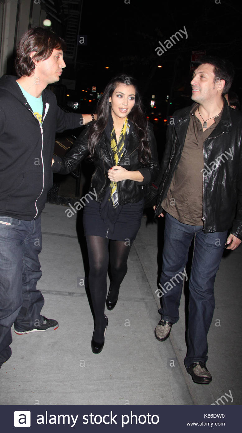 695e428d7d Kim Kardashian. Kim and Kourtney Kardashian pictured leaving  Via Dei  Mille  restaurant after having dinner with friends in Downtown