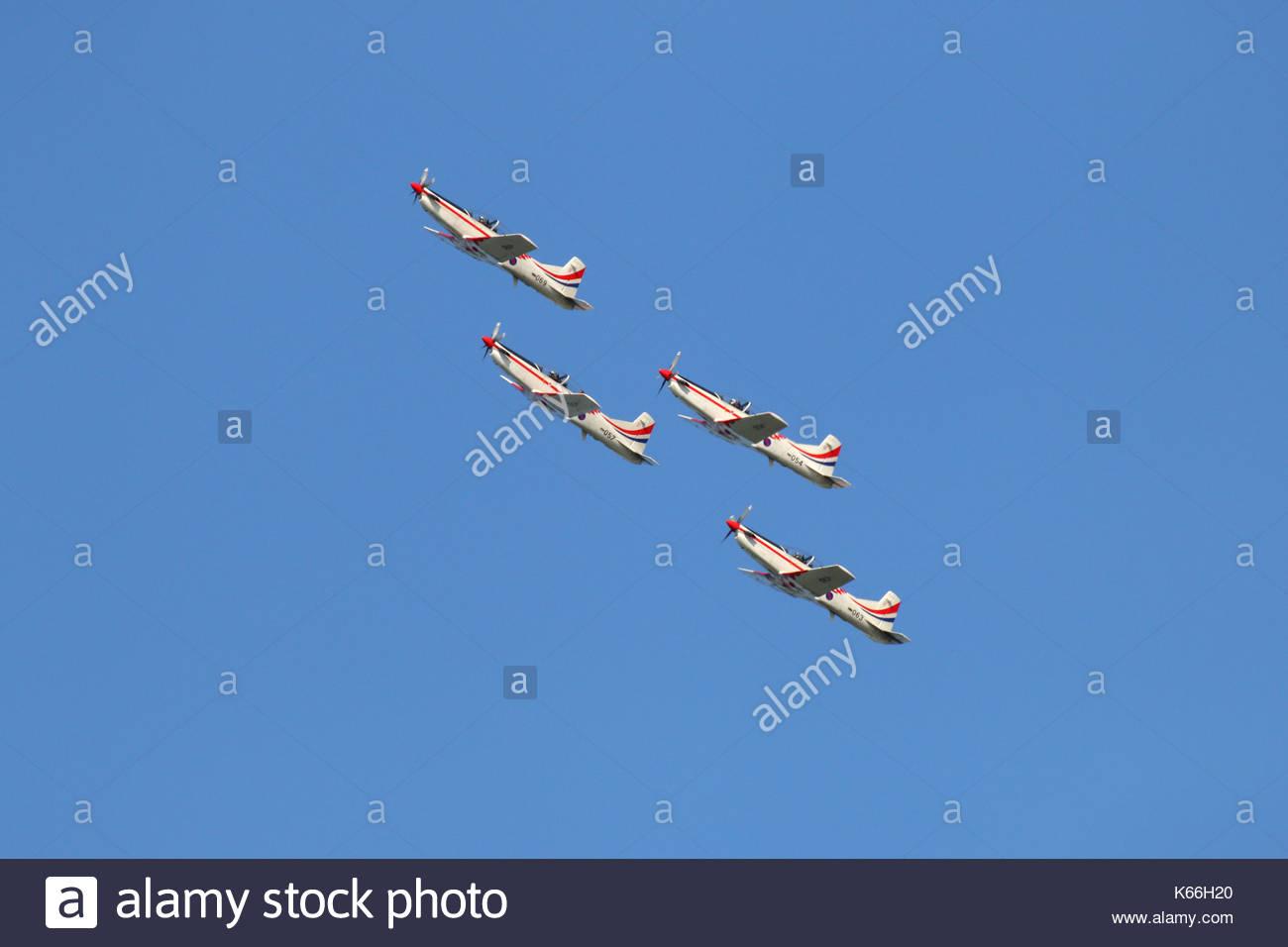 Wings of Storm - aerobatic team - air show Sisak Croatia - Stock Image