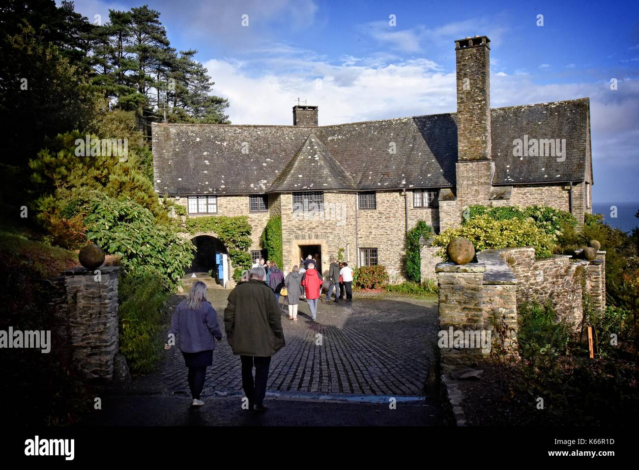 Coleton Fishacre f a 24-acre (97,000 m2) garden and a house in the Arts and Crafts style, Kingswear, Devon, England. Stock Photo