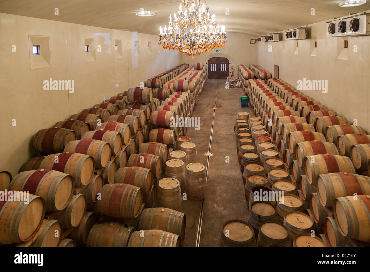 Asara Winery Cave Stellenbosch South Africa Stock Photo
