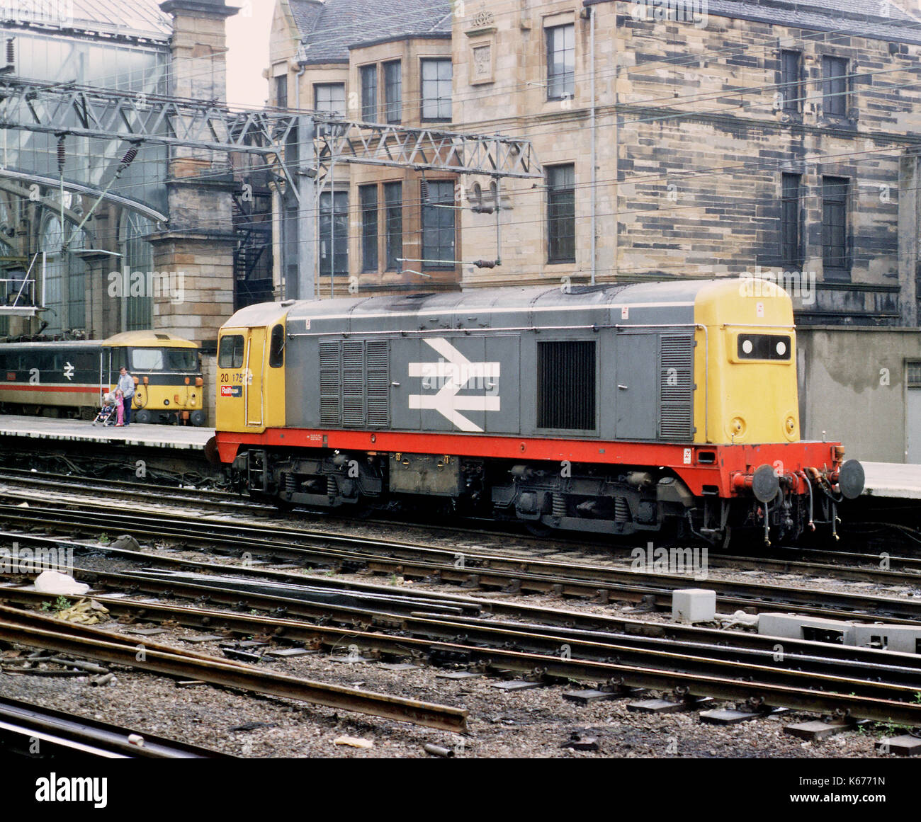 Class 20 locomotive at Glasgow Central railway station - Stock Image