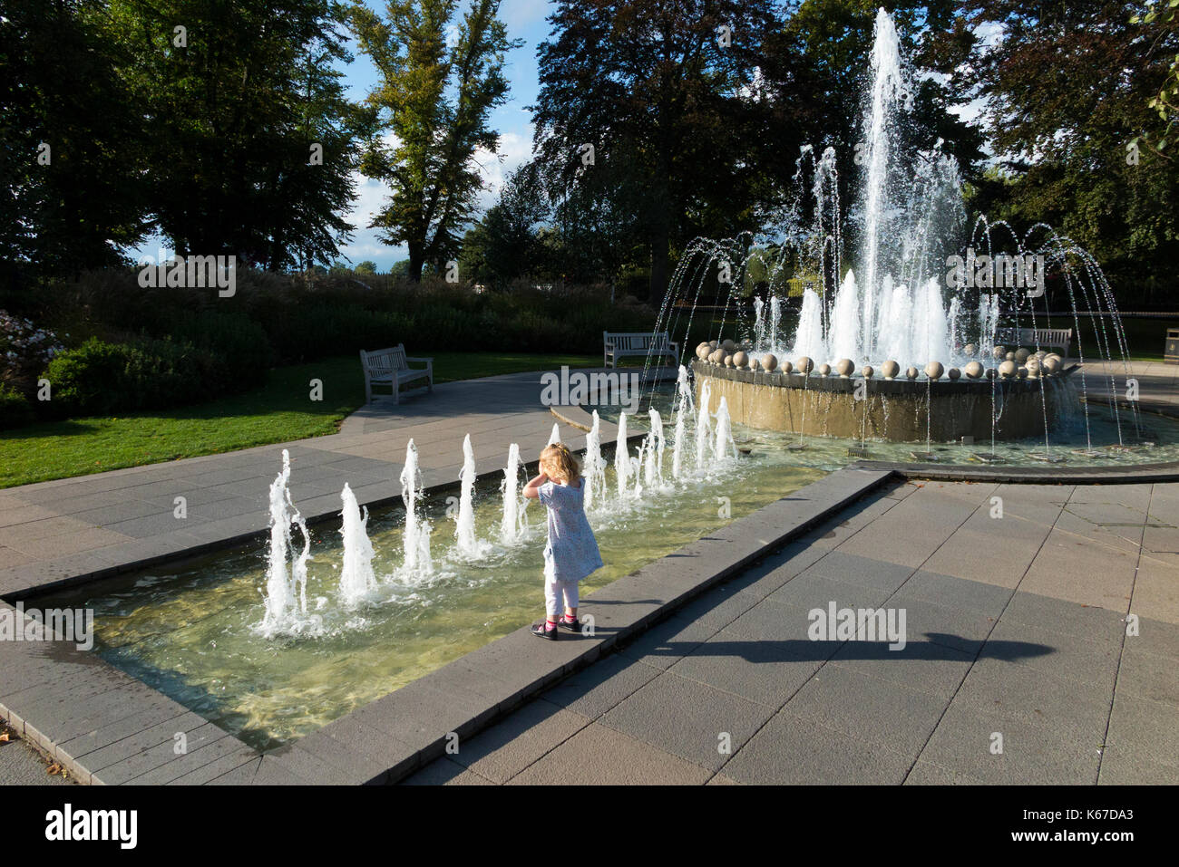 The Diamond Jubilee Fountain in Windsor, Berkshire. UK. The fountain  was commissioned to celebrate the Queens Diamond Jubilee in 2012. (90) - Stock Image