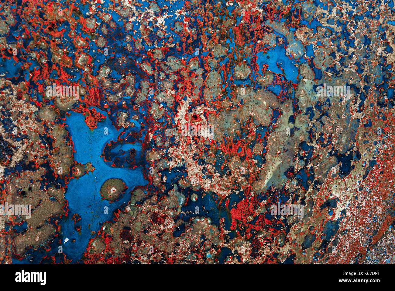 Abstract of rusted colourful metal - Stock Image