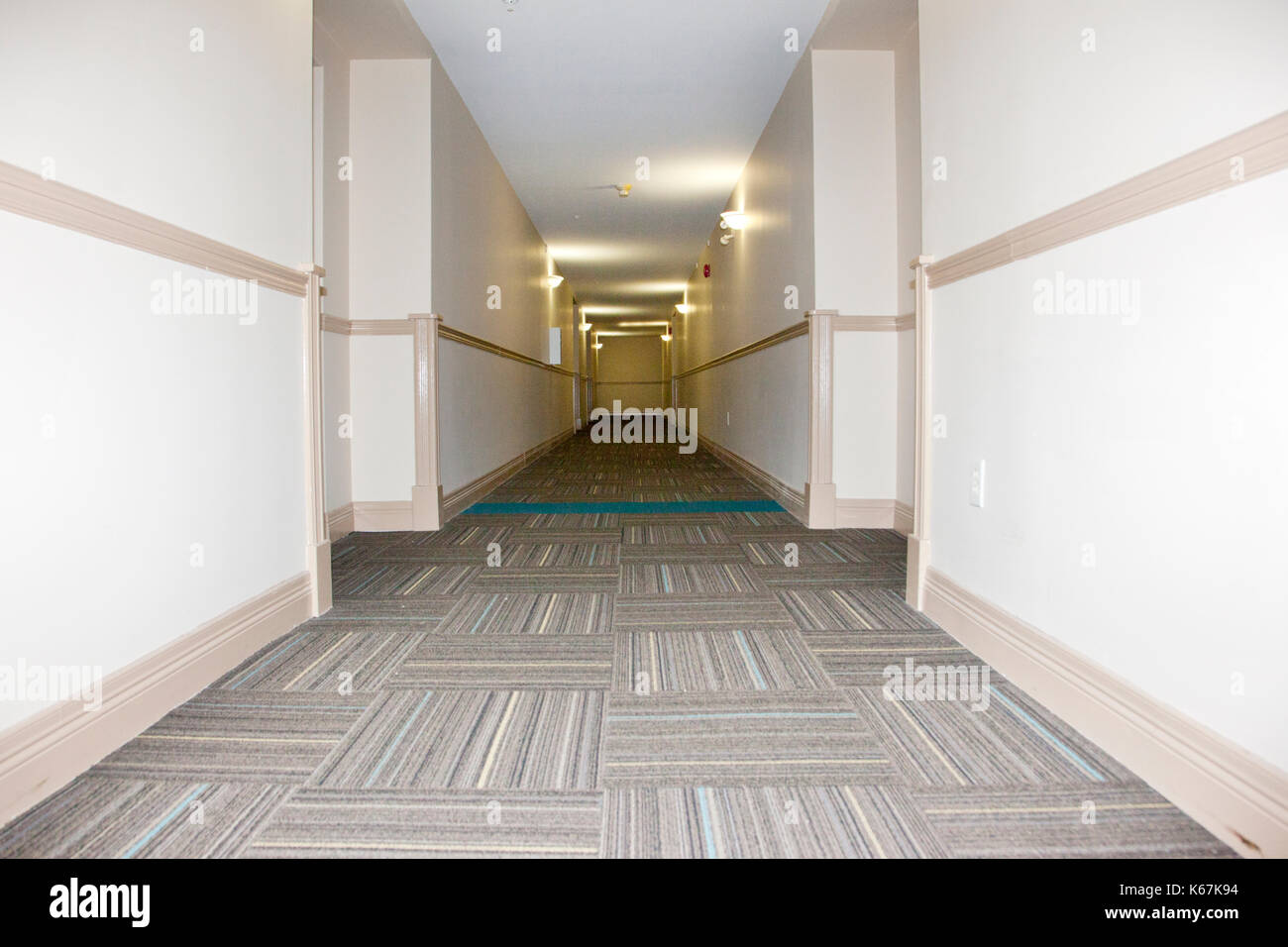 Apartment Building Hallway High Resolution Stock Photography and