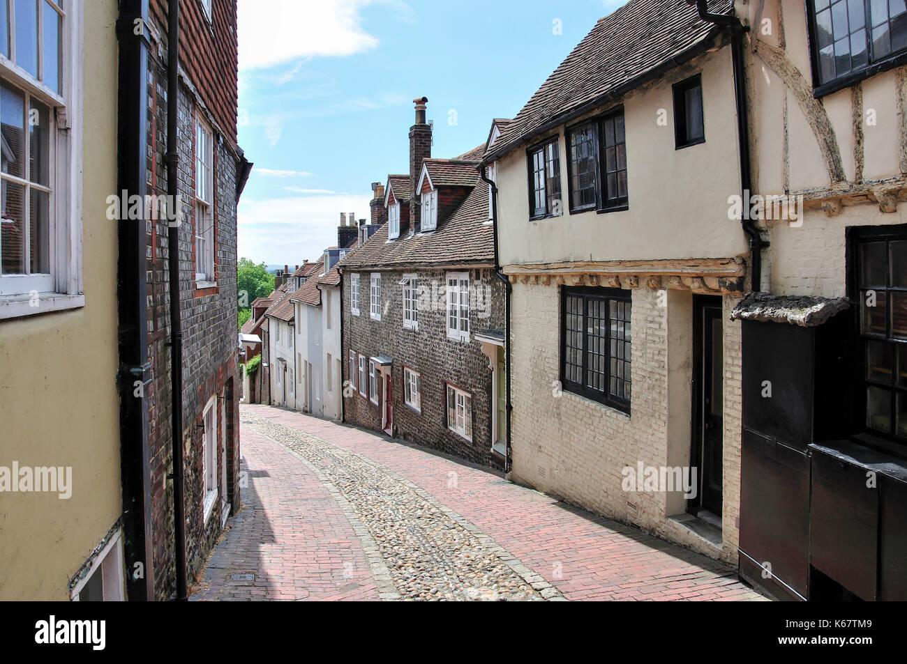 Period houses. Keere Street, Lewes, East Sussex, England, United Kingdom Stock Photo