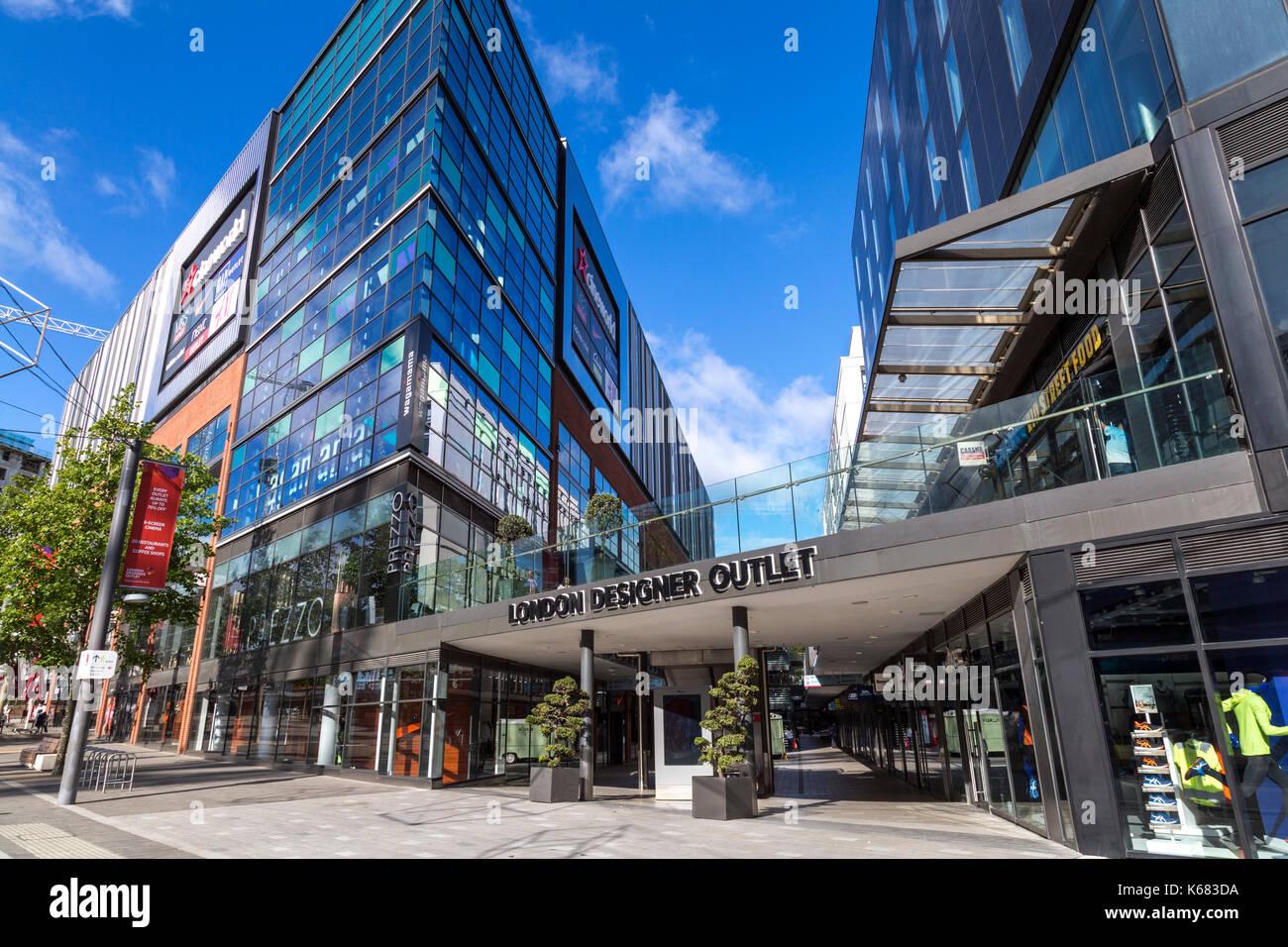 Contemporary Shopping Centre, London Designer Outlet, Wembley Park, London - Stock Image