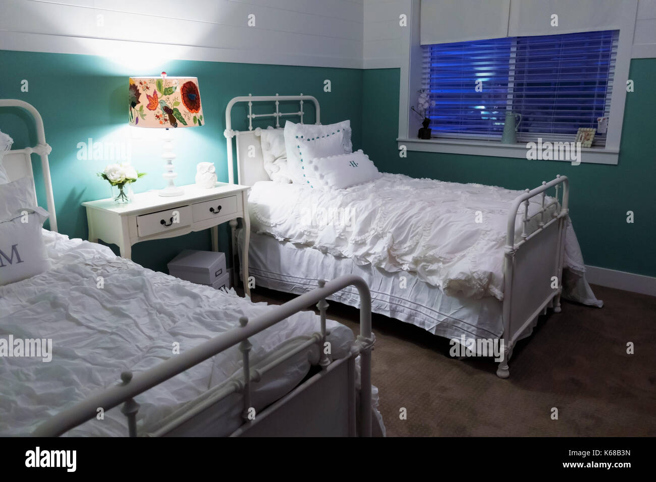 Picture of: White Metal Bed High Resolution Stock Photography And Images Alamy