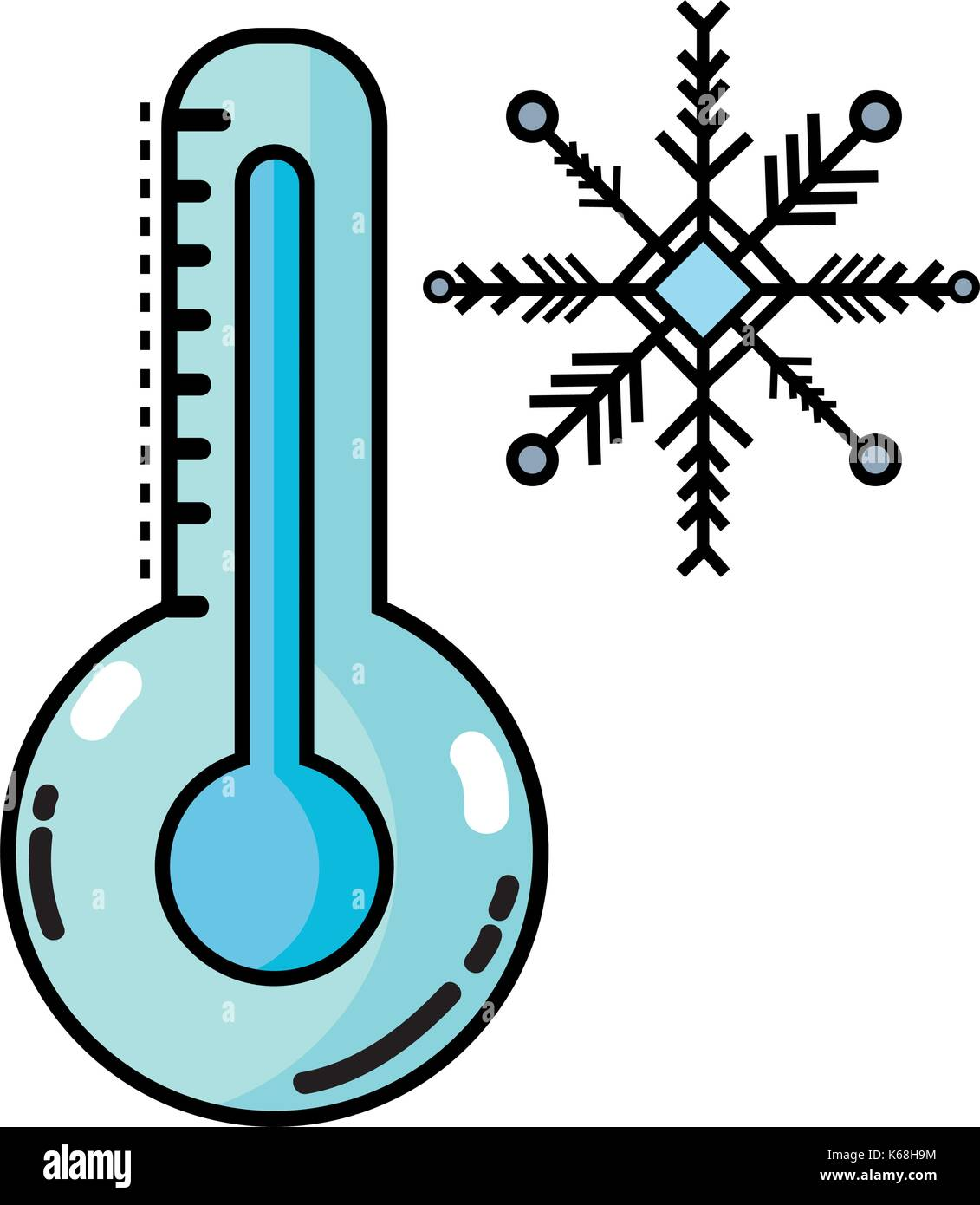 thermometer measure instrument to know the temperature - Stock Vector