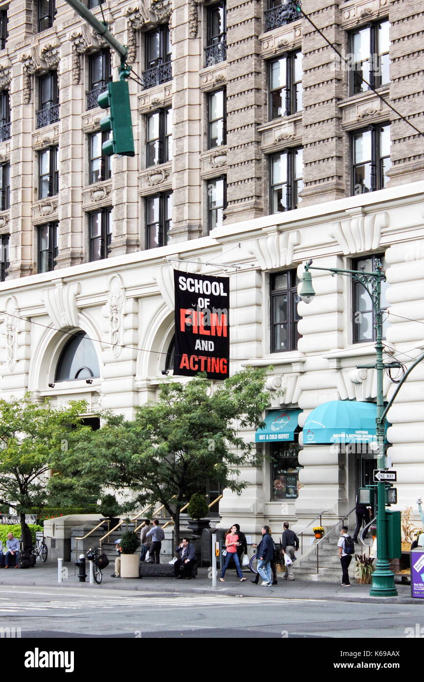 New York, USA - 28 September, 2016: New York Film Academy – School of Film and Acting (NYFA) building located at 17 Battery Place, New York City. - Stock Image