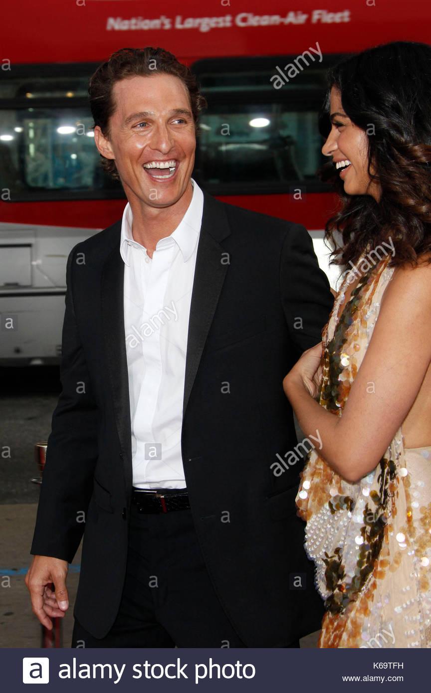 Matthew McConaughey And Camila Alves Actress Jennifer Garner Looks Stock Photo 158798069