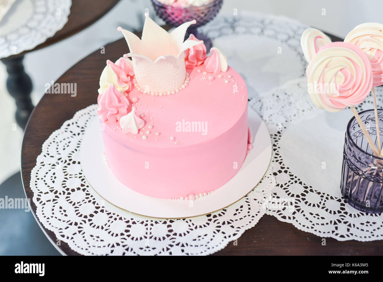 wedding cake for guests at a wedding party from the berries Stock Photo