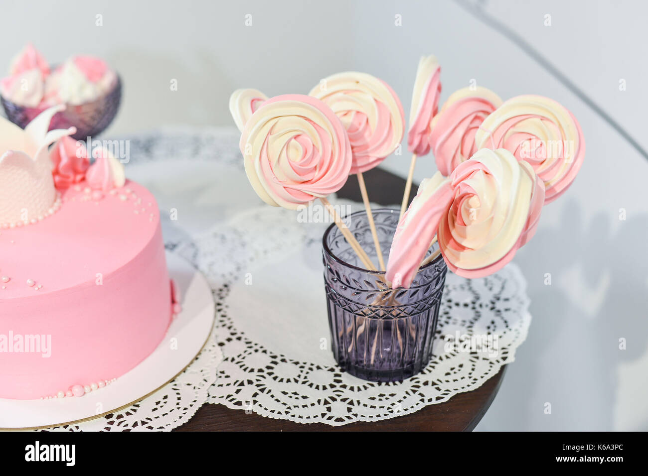 wedding cake for guests at a wedding party from the berries - Stock Image
