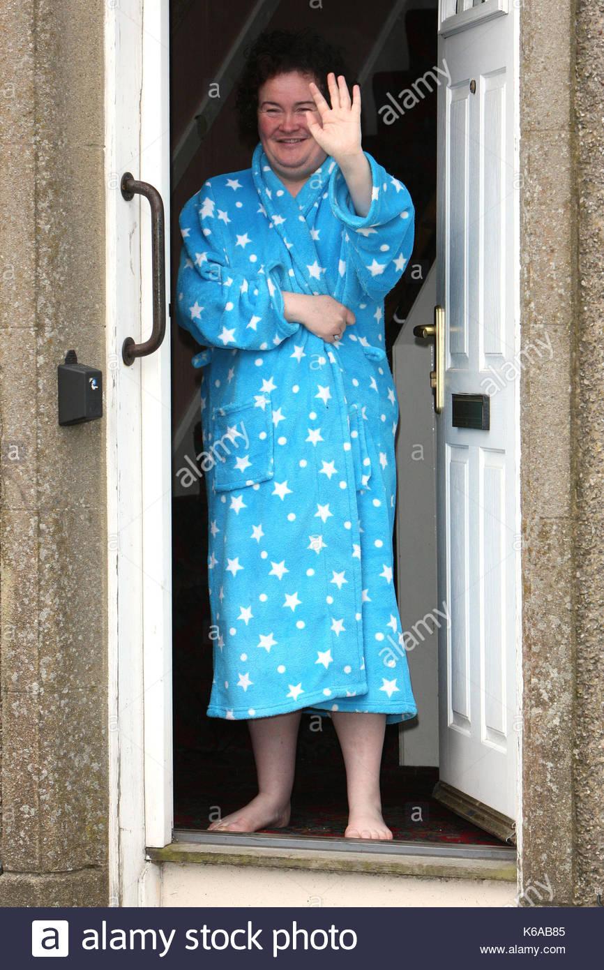 Susan Boyle. Susan Boyle appears on her doorstep in Blackburn Stock ...