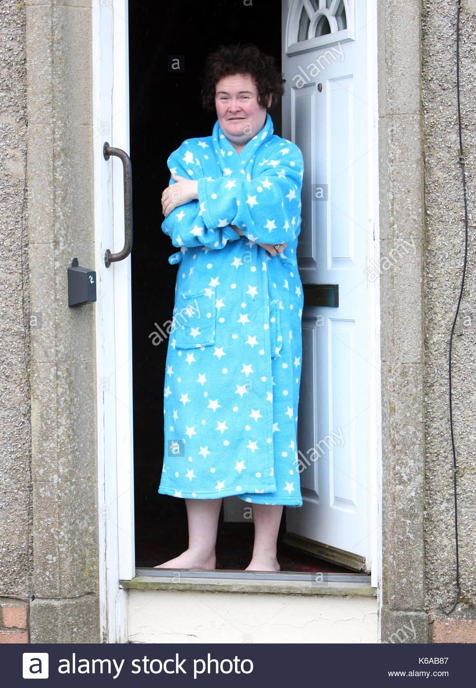 Susan Boyle Susan Boyle Appears On Her Doorstep In Blackburn Stock