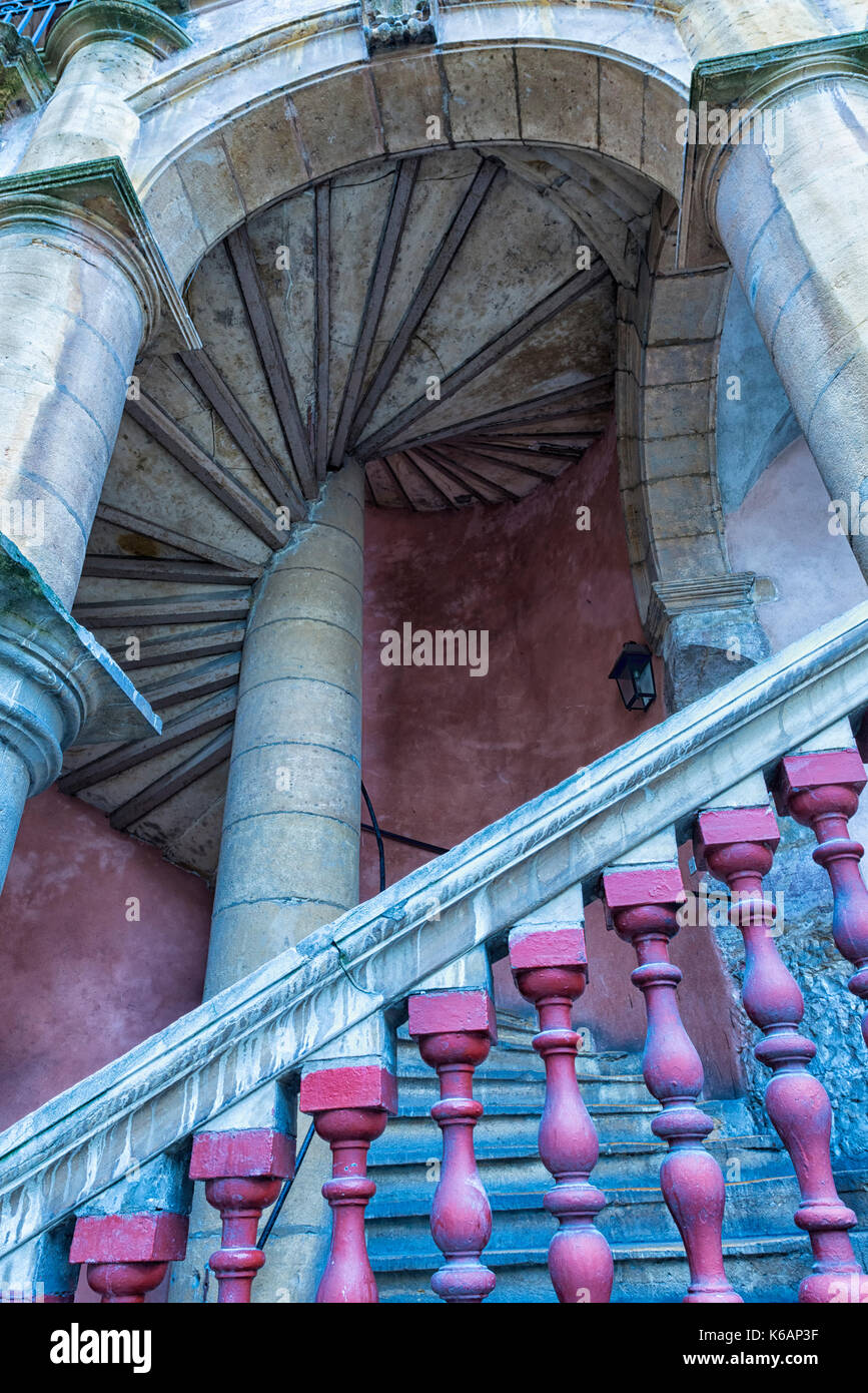 House Paterin or House Henri IV, Saint-Paul district, Unesco World Heritage Site, Old Lyon, Rhône Alpes, France - Stock Image