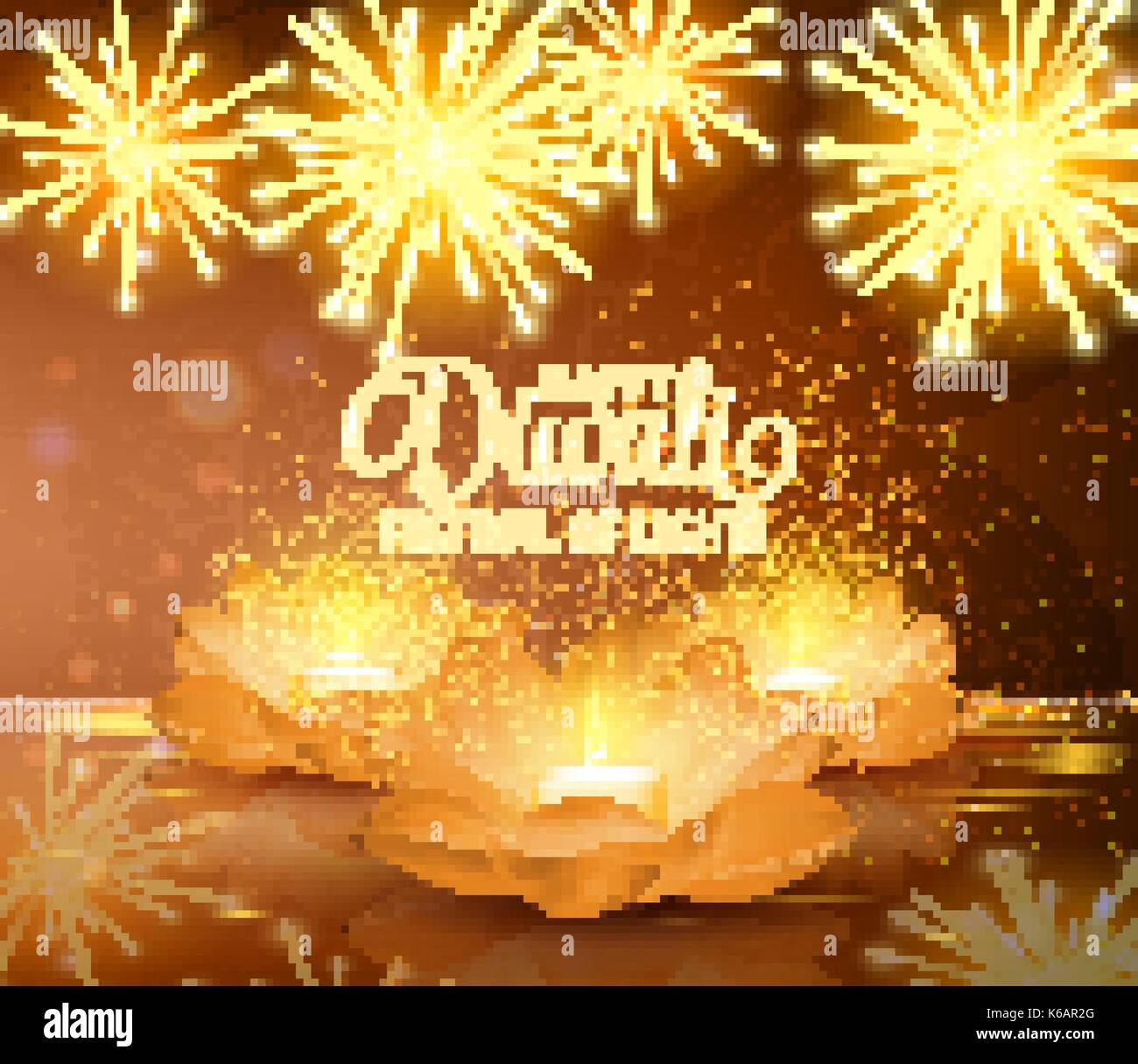 Happy Diwali Vector Festival Of Light Background Greeting Stock