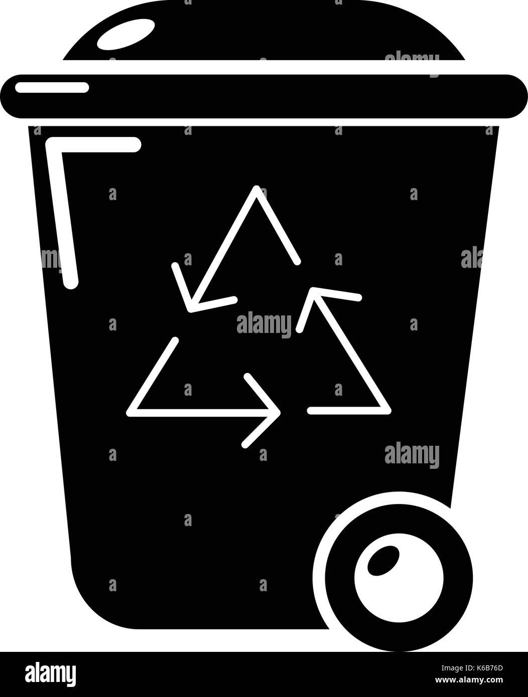 Wheelie Bin Logo Vector Clipart Vector Design