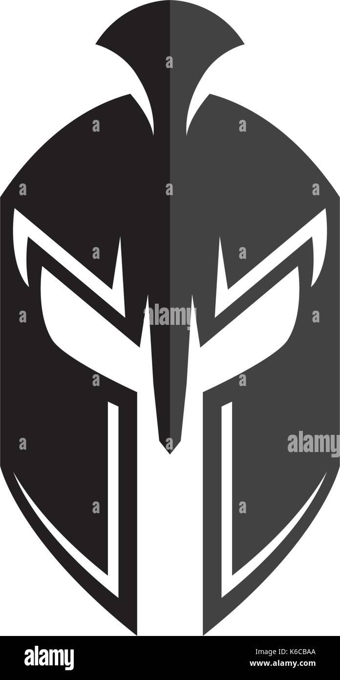fa36935021d97 Spartan helmet logo template vector icon design Stock Vector Art ...