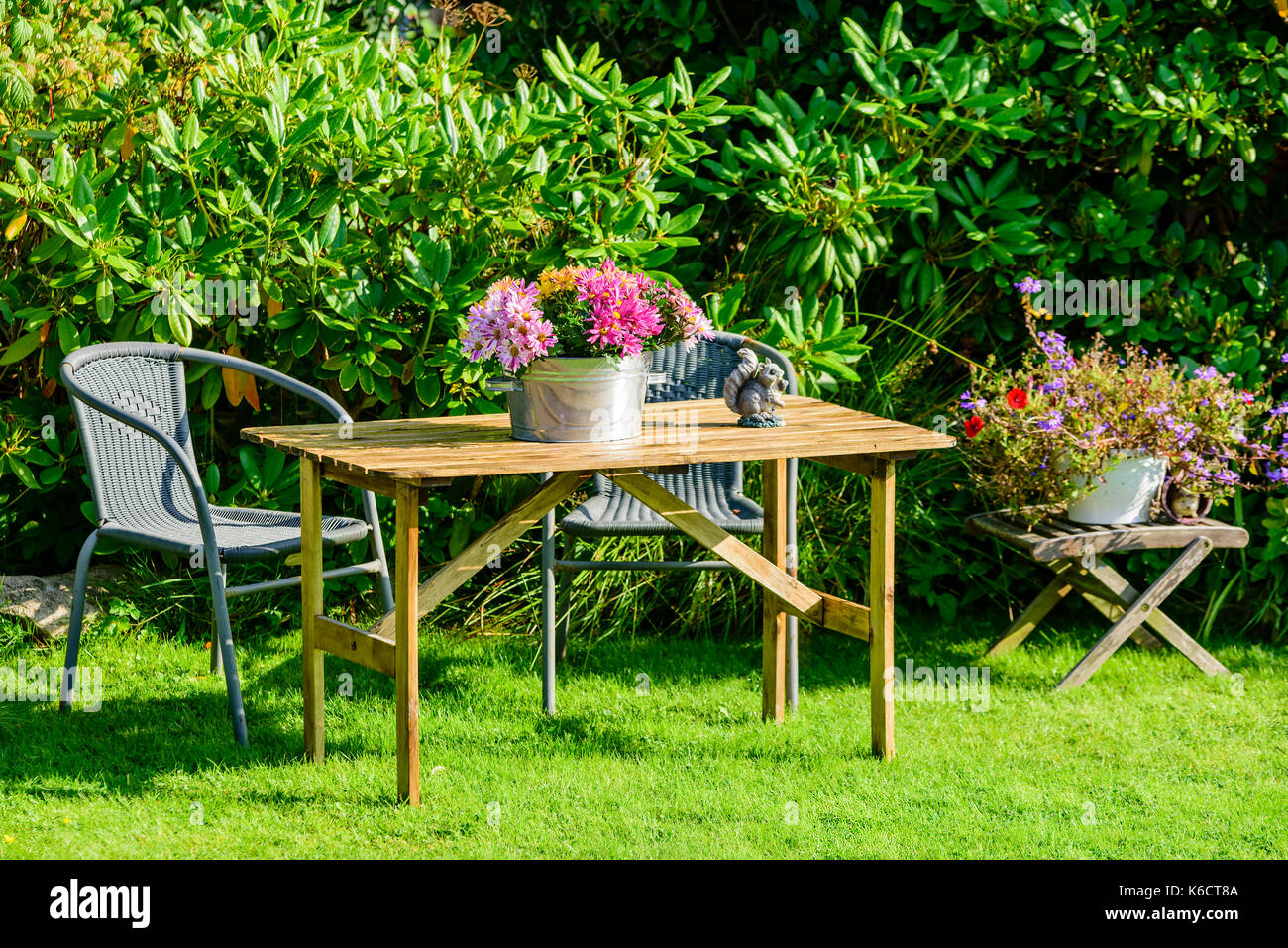 Enjoyable Flower Stool Stock Photos Flower Stool Stock Images Page Theyellowbook Wood Chair Design Ideas Theyellowbookinfo
