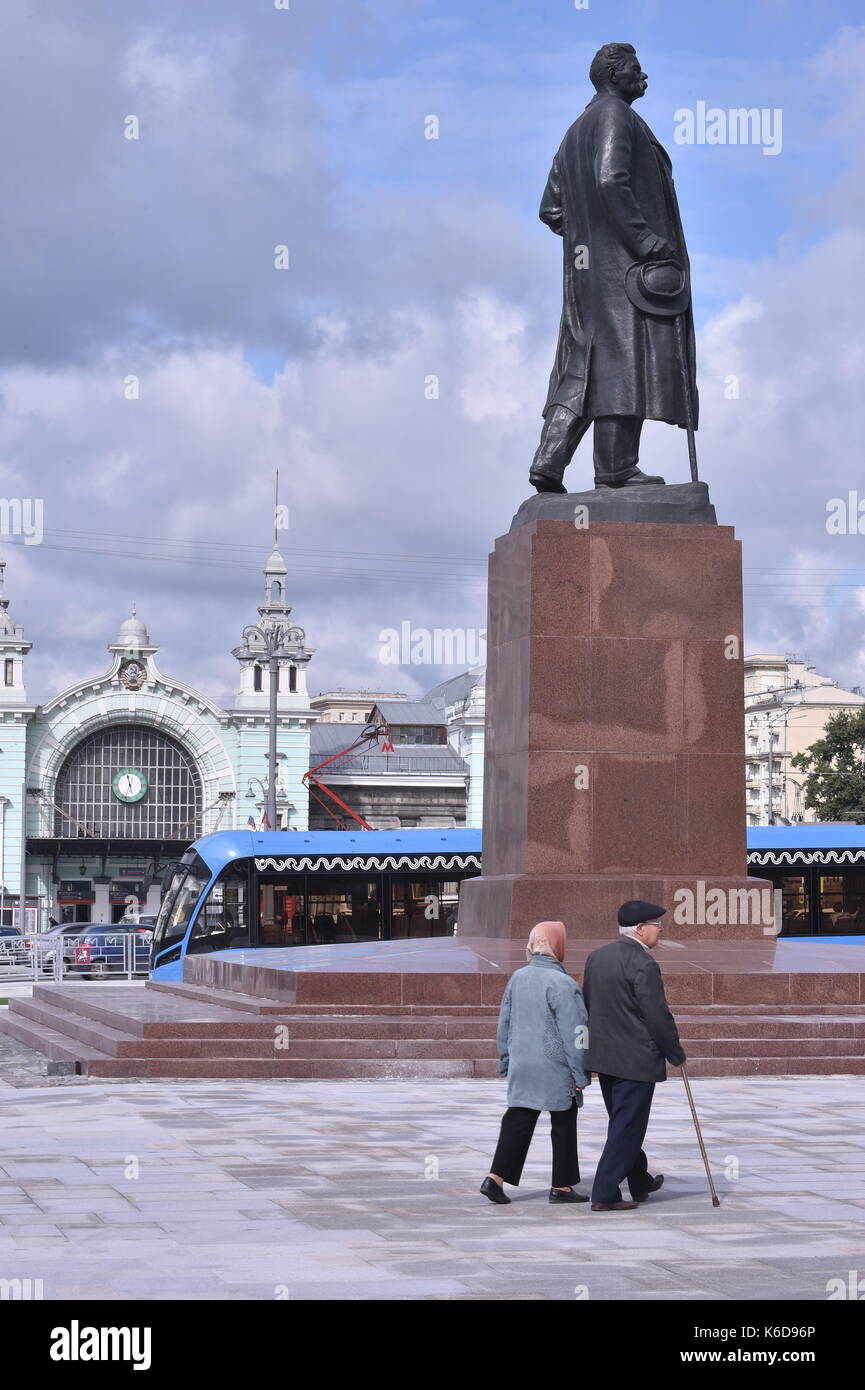 Moscow. Monument to the disassembled railway 91