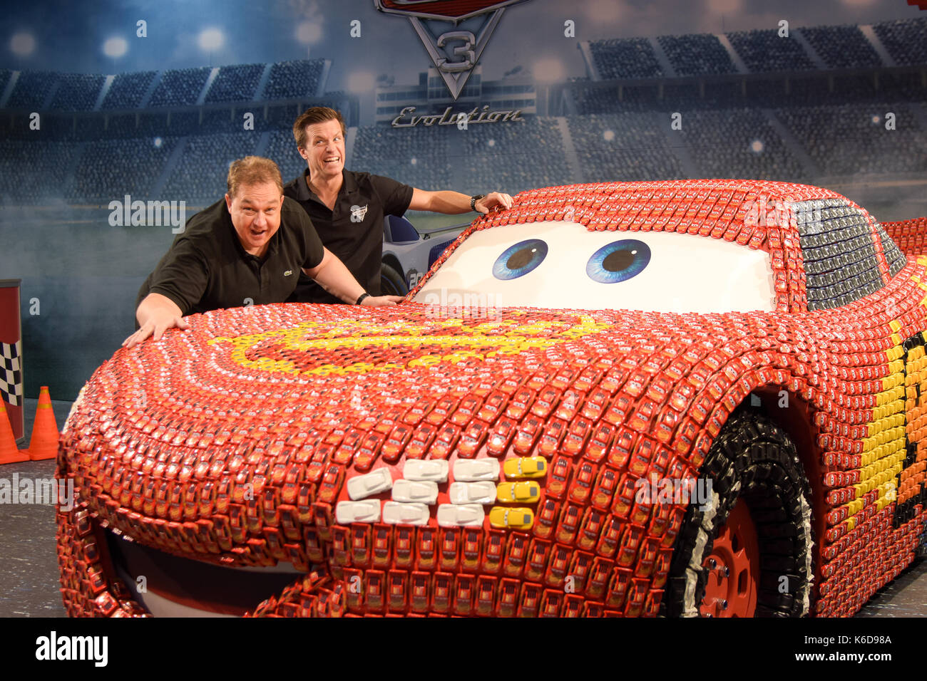 Frankfurt, Germany. 12th Sep, 2017. Photocall CARS 3: EVOLUTION. Voice actors Oliver Kalkofe, Benedikt Weber with Stock Photo