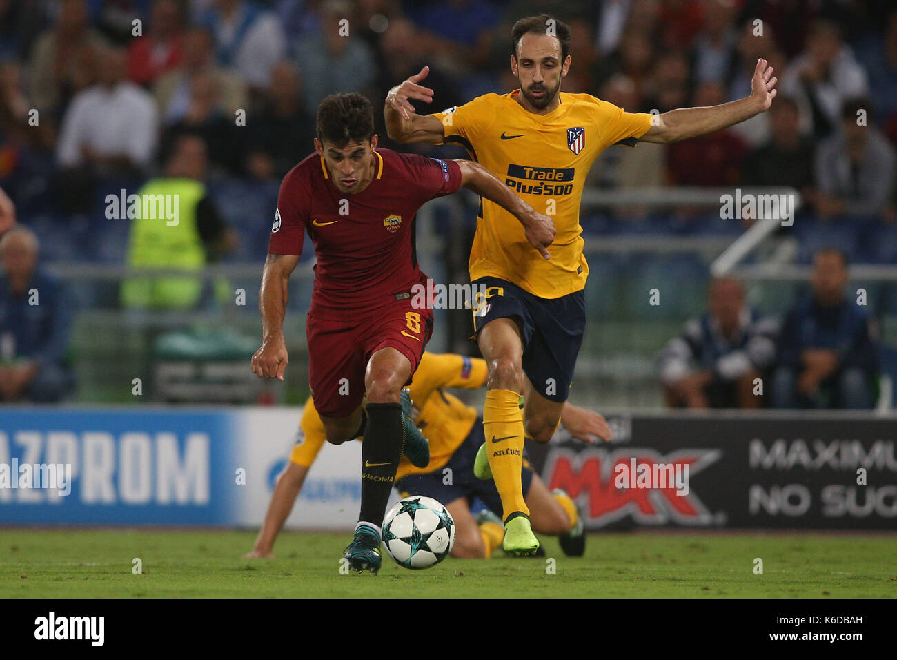 ROME, ITALY . 12 september 2017. Olimpic Stadium. UEFA CHAMPIONS LEAGUE 2017/2018. MATCH AS ROMA VS ATLETICO MADRID. Stock Photo