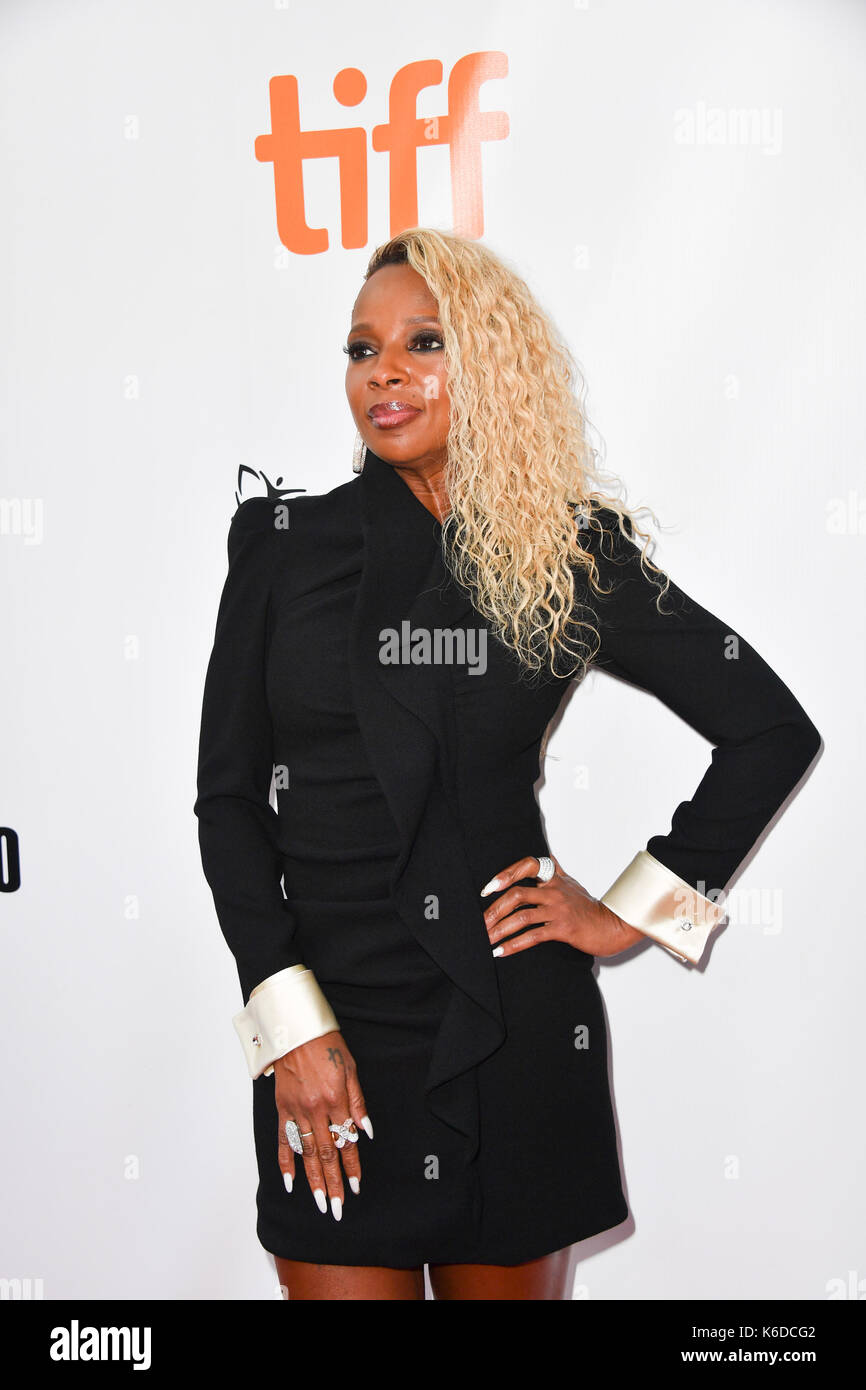 Toronto, Ontario, Canada. 12th Sep, 2017. MARY J. BLIGE attends 'Mudbound' premiere during the 2017 Toronto International Stock Photo
